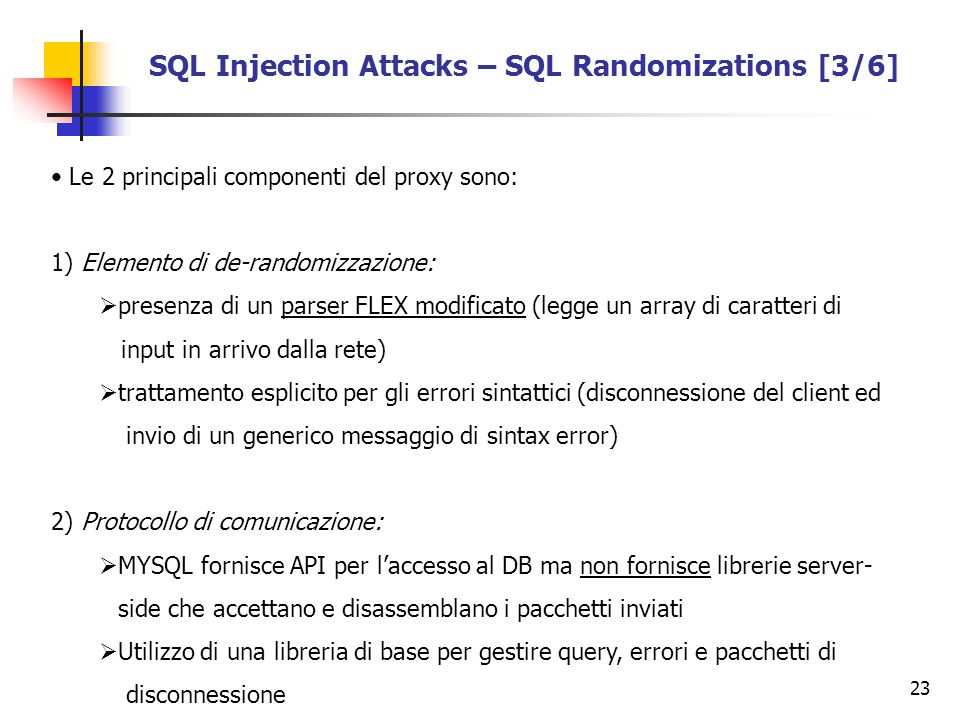 SQL Injection Attacks – SQL Randomizations [3/6]
